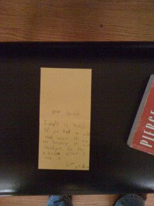 A secret letter found inside a piano.