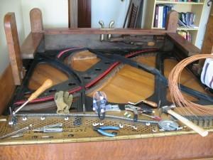 Restringing J.C. Fischer Piano